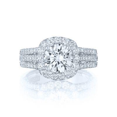 Tacori HT2551CU75 Petite Crescent Platinum Round Engagement Ring