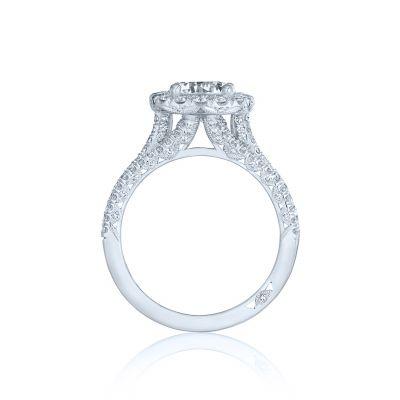 Tacori HT2551CU75 Platinum Round Engagement Ring side