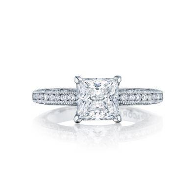Tacori HT2553PR Classic Crescent White Gold Princess Cut Engagement Ring