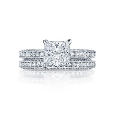 Tacori HT2553PR White Gold Princess Cut Classic Engagement Ring set