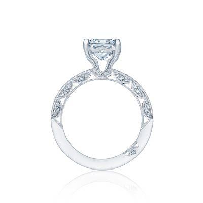 Tacori HT2553PR White Gold Princess Cut Engagement Ring side