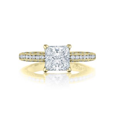 Tacori HT2553PR7-Y Classic Crescent yellow Gold Princess Cut Engagement Ring