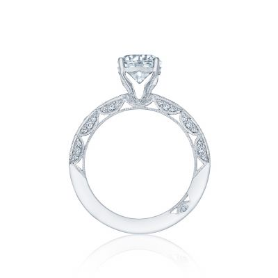 Tacori HT2553RD7 Platinum Round Engagement Ring side