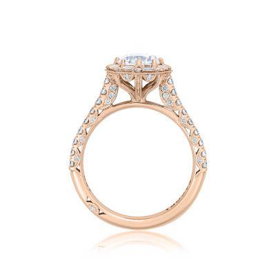 Tacori HT2556RD65-PK Rose Gold Round Engagement Ring side