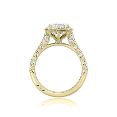Tacori HT2556RD65-Y Yellow Gold Round Engagement Ring side