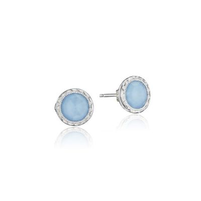 SE24105 Petite Bezel Stud Earrings featuring Neolite Turquoise