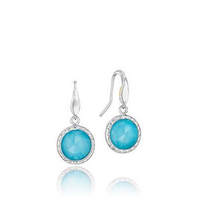 SE15505 Island Rains Silver Neolite Turquoise Drop Earrings for Women
