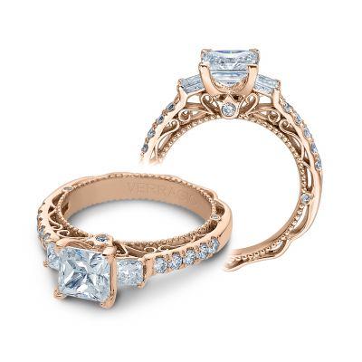 Verragio Venetian 5058p Princess Rose Gold Engagement Ring